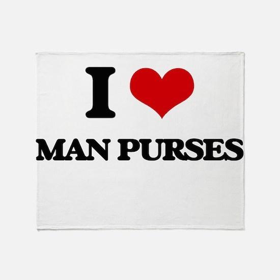 man purses Throw Blanket