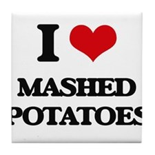 mashed potatoes Tile Coaster
