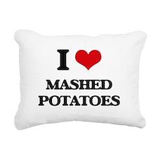 mashed potatoes Rectangular Canvas Pillow