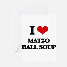 matzo ball soup Greeting Cards