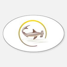 Hammerhead Shark Graphic Oval Decal