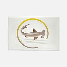 Hammerhead Shark Graphic Rectangle Magnet