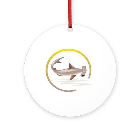 Hammerhead Shark Graphic Ornament (Round)
