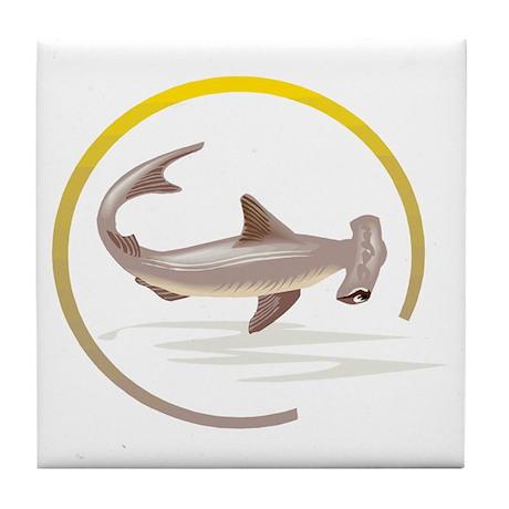 Hammerhead Shark Graphic Tile Coaster
