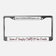 Naughty Cherry License Plate Frame