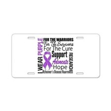 Alzheimers Disease Aluminum License Plate