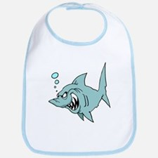 Screaming Blue Shark Bib