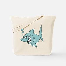 Screaming Blue Shark Tote Bag