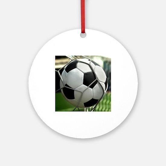 Soccer Goal Ornament (Round)