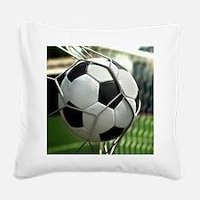 Soccer Goal Square Canvas Pillow