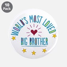 "World's Most Loved Big Broth 3.5"" Button (10 pack)"