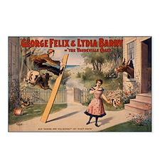 VAUDEVILLE CRAZE postcard (package of 8)