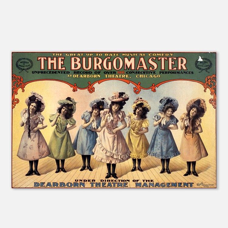 BURGOMASTER postcard (package of 8)