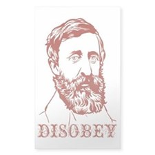 Henry David Thoreau Disobey Decal