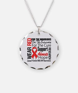 AIDS Necklace Circle Charm