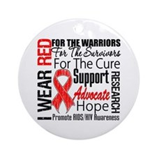 AIDS Ornament (Round)
