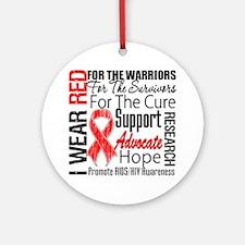 AIDS Ornament (Round)