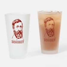 Henry David Thoreau Disobey Drinking Glass
