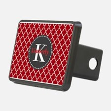 Red and Charcoal Gray Quat Hitch Cover