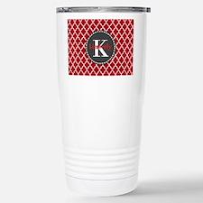 Red and Charcoal Gray Q Travel Mug