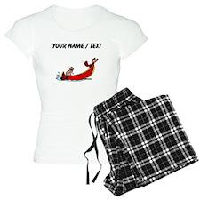 Custom Beavers In Boat Pajamas