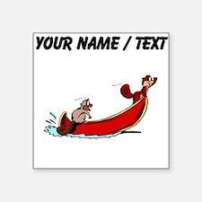 Custom Beavers In Boat Sticker