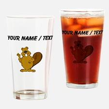 Custom Beaver Waving Drinking Glass