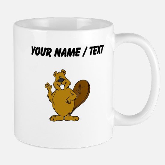 Custom Beaver Waving Mugs