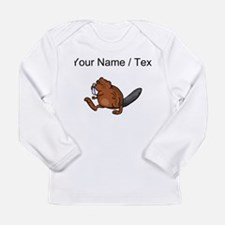 Custom Beaver Walking Long Sleeve T-Shirt