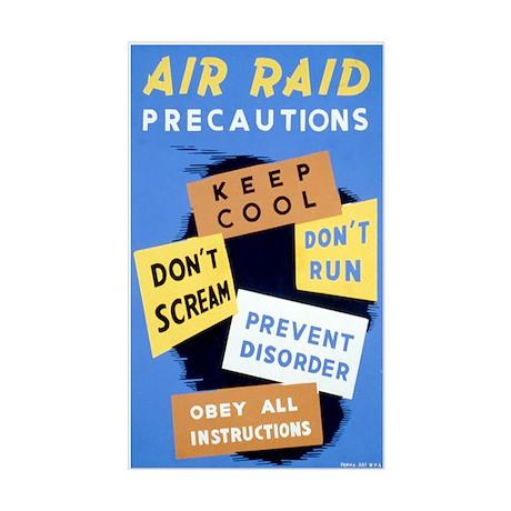 AIR RAID vinyl sticker