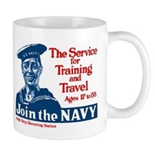 JOIN THE NAVY coffee cup