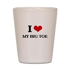my big toe Shot Glass