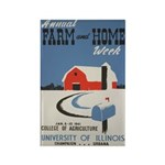 FARM HOME fridge magnet
