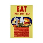 EAT FOOD fridge magnet