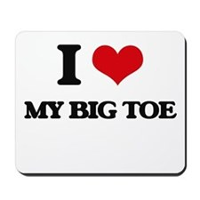 my big toe Mousepad