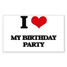 my birthday party Decal