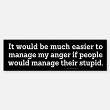 Managing Anger Bumper Bumper Bumper Sticker