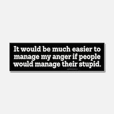 Managing Anger Car Magnet 10 x 3