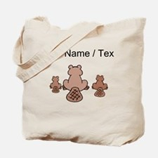 Custom Beaver Family Tote Bag