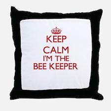 Keep calm I'm the Bee Keeper Throw Pillow