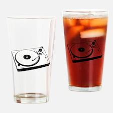 DJ Turntable Drinking Glass