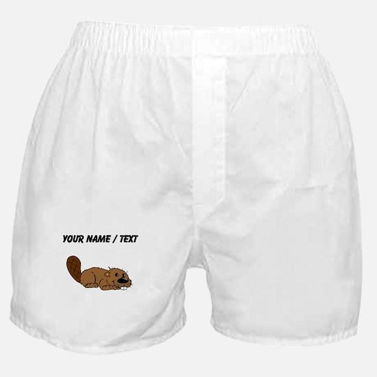 Custom Baby Beaver Boxer Shorts