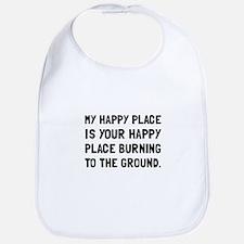 Happy Place Burning Bib