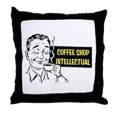 COFFEE SHOP INTELLECTUAL Throw Pillow