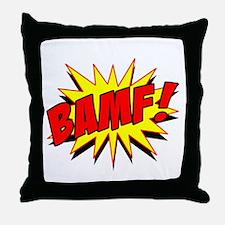 Bamf! Throw Pillow