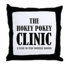 Hokey Pokey Clinic Throw Pillow