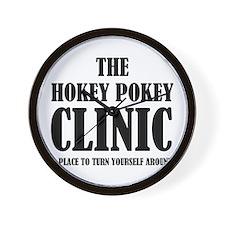 Hokey Pokey Clinic Wall Clock