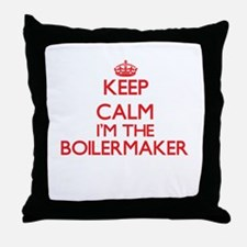 Keep calm I'm the Boilermaker Throw Pillow