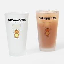 Custom Nervous Beaver Drinking Glass