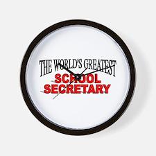 """The World's Greatest School Secretary"" Wall Clock"